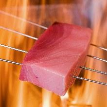 Straw-seared tuna