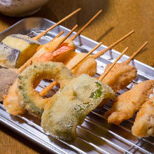 Assorted fried cutlet skewers, 10 kinds