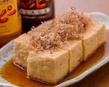 Fried Okinawan tofu