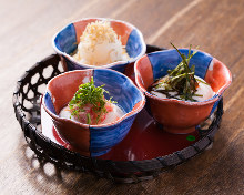 Assorted chilled tofu, 3 kinds