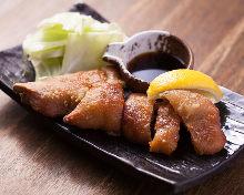 Deep-fried pork trotters