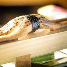 Seared conger eel