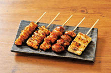 Assorted grilled skewers