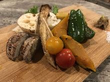 Assorted grilled vegetables