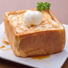 Toast with honey