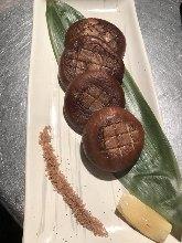 Shiitake mushrooms teppanyaki