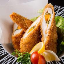 Chicken tenderloin cheese cutlet