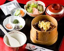Una chazuke (eel and rice with tea)