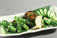 Cucumber with moromi miso