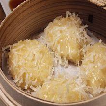 Squid shaomai dumplings