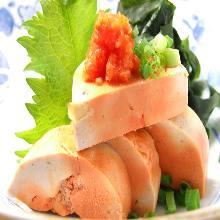 Monkfish liver with ponzu