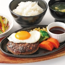 Hamburg steak set meal