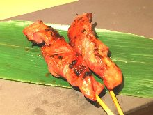 Grilled gizzard skewer