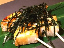 Grilled Japanese yam skewer