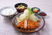 Kurobuta pork sirloin cutlet set meal