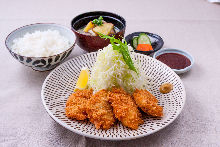 Kurobuta pork fillet cutlet set meal