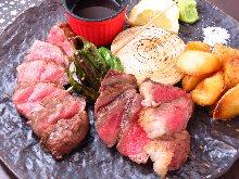 Assorted steak, 2 kinds