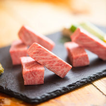 Thickly sliced premium beef loin