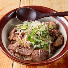 Beef tendon rice bowl