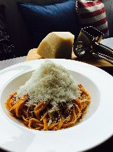 Bolognese with cheese