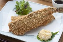 Deep-fried horse mackerel