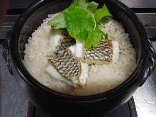Donabe Gohan (rice in an earthen pot)
