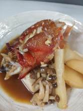Simmered bony parts of fish of the day