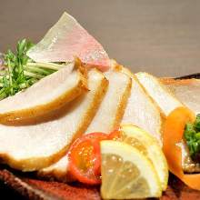 Seared fatty pork