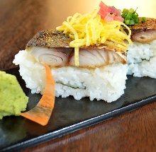 Mackerel sushi