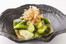 Lightly-pickled cucumber