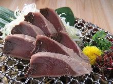Grilled skipjack tuna belly