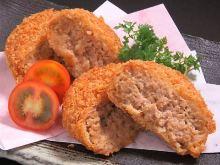 Minced Kurobuta pork cutlet