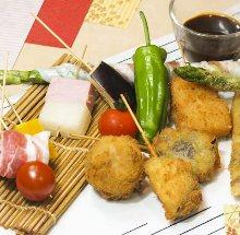 Assorted deep-fried skewers, 5 kinds