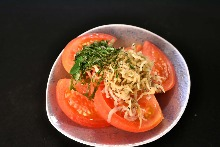 Tomato and baby sardine salad