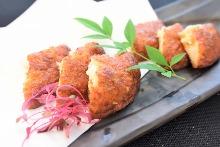Fried minced fish