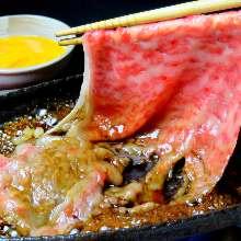 Beef sirloin yakisuki