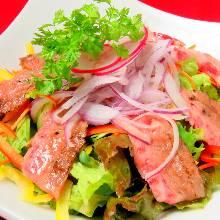 Seared beef salad