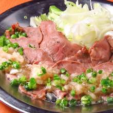 Salted pork tongue with green onions