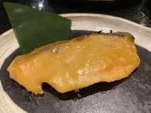 Grilled fatty salmon with Saikyo miso