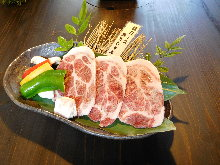 Grilled pork shabu-shabu