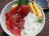 Red and White! Squid and Tuna Rice bowl Set