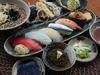 Nigiri-zushi, Tempura, and Japanese Soba Meal