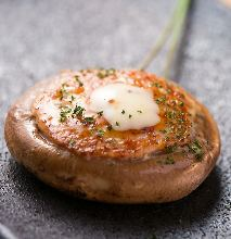 Ground meat stuffed shiitake mushrooms