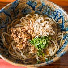 Okinawa soba noodles