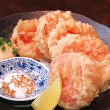 Cherry tomato tempura