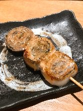 Pork rolled with shiso leaf