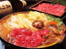 Wagyu beef sukiyaki