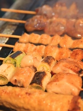 Assorted grilled skewers, 6 kinds