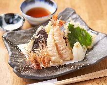 Japanese tiger prawn tempura