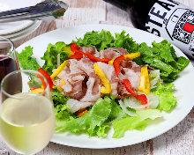 Kurobuta pork shabu-shabu salad